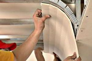 Как осуществить качественный ремонт гипсокартонных подвесных потолков