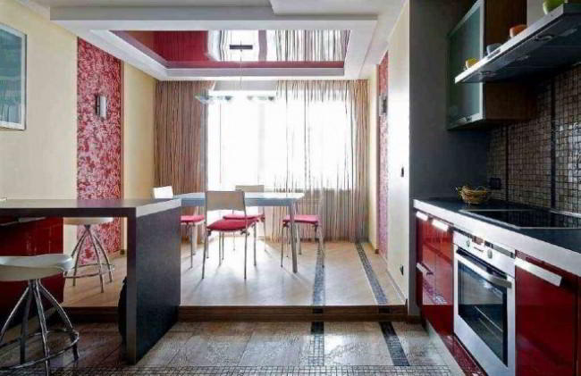 Натяжной потолок на кухне: 35 воплощений лучших интерьерных идей