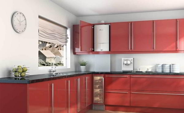 Можно ли спрятать газовый котел на кухне?