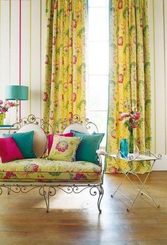 Желтые шторы в интерьере гостиной, спальни, кухни, кабинета, фото