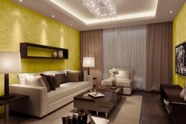 Какие выбрать обои для гостиной: фото интерьера, комбинирование