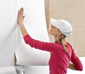 Как клеить стеклообои под покраску?