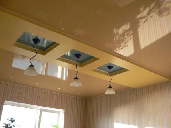 Какие бывают виды натяжных потолков, какие лучше, фото различных вариантов