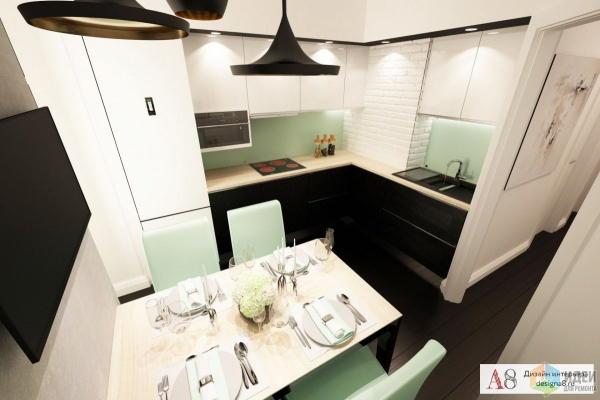Дизайн двухкомнатной квартиры в стиле минимализм