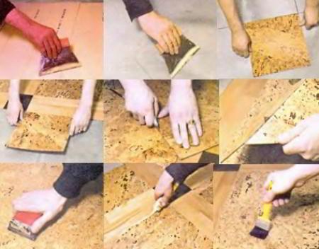 Как правильно уложить пробковое покрытие пола своими руками