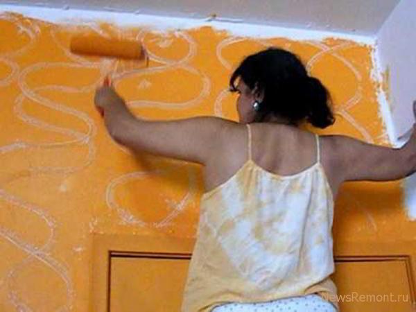 Как покрасить стены в комнате своими руками