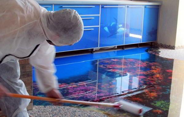 Как правильно уложить эпоксидный наливной пол своими руками
