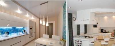 Как сделать глянцевый потолок на кухне своими руками