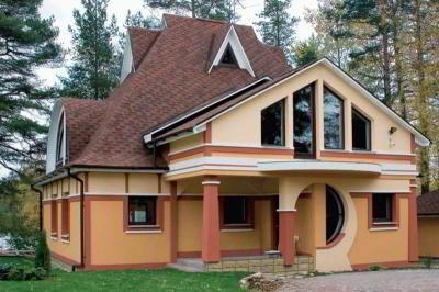 Различные формы крыш по геометрической конструкции