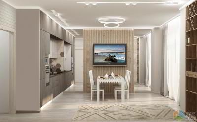 Дизайн интерьера квартиры в ЖК «Ньютон»