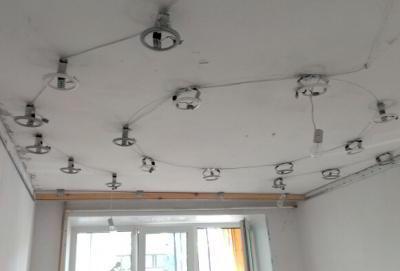 Как сделать натяжные потолки точечными своими руками