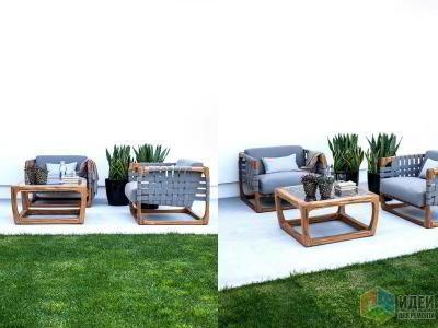 Мебель для сада с изящным силуэтом