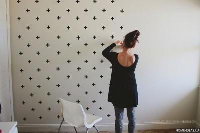 Как оформить стену своими руками
