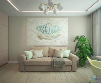 Эклектика в 3-комнатной квартире, ЖК Галактика