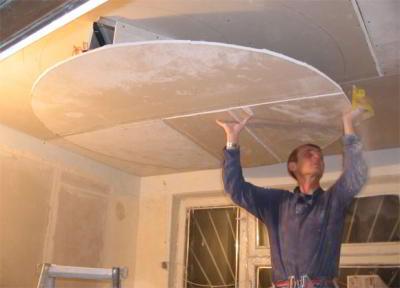 Как сделать потолок из гипсокартона в спальне своими руками