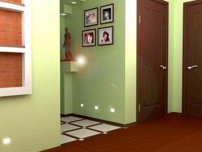 Как отделать стены в коридоре  своими руками