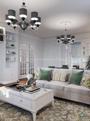 Интерьер квартиры в стиле американской классики