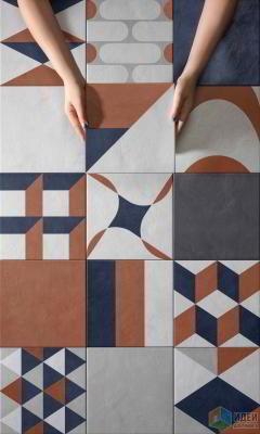 Геометрия в цвете: плитка для стен и пола