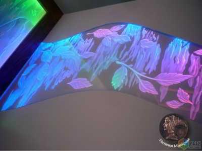 Декоративная композиция из стекла