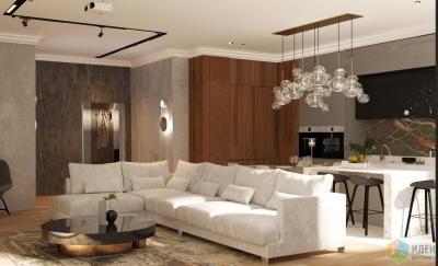 Интерьер квартиры в ЖК «SkySeven»