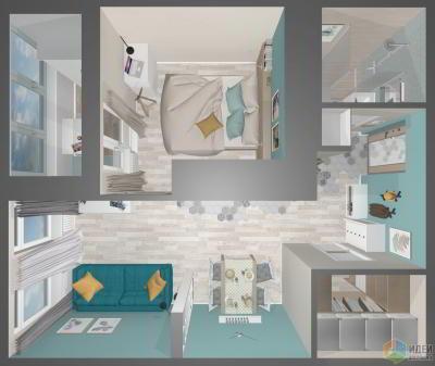 Небольшая квартира в ЖК «Город»