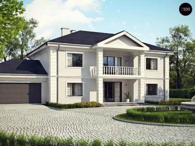 Проект дома с гаражом под одной крышей
