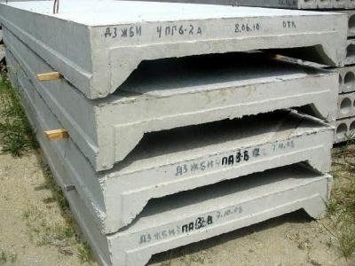Размер ребристых плит перекрытия