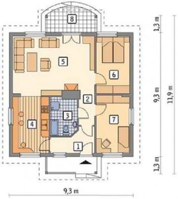 Проект дома из сибита