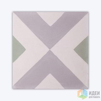 Цементная плитка с узорами