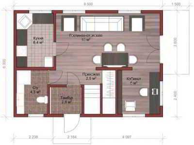 Проекты каркасных домов до 100 кв. м.