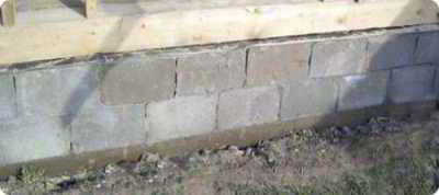 Бетонные блоки для фундамента 20х20х40