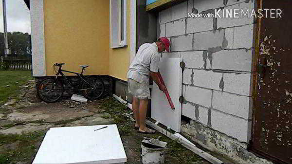 Как сделать утепление стен пенопластом своими руками